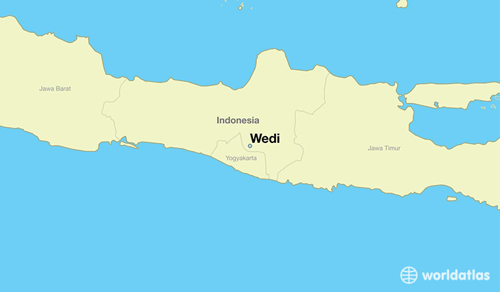 map showing the location of Wedi