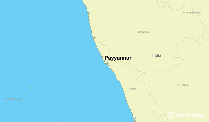 map showing the location of Payyannur