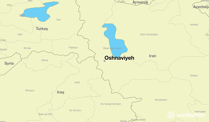 map showing the location of Oshnaviyeh