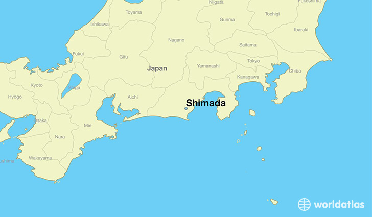 map showing the location of Shimada