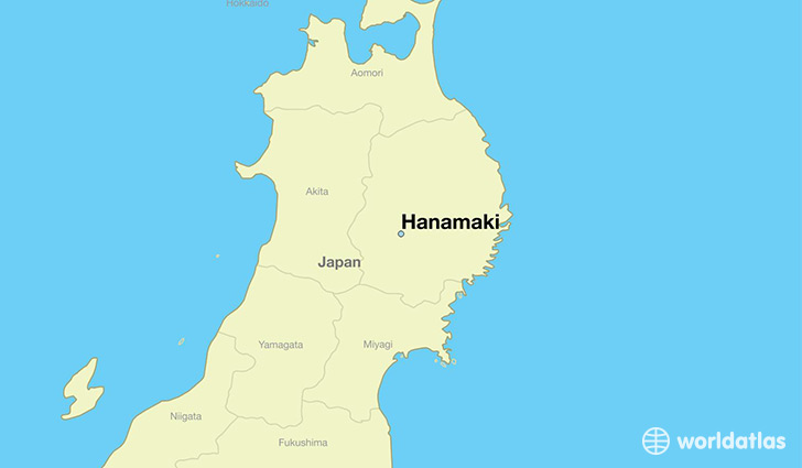 map showing the location of Hanamaki
