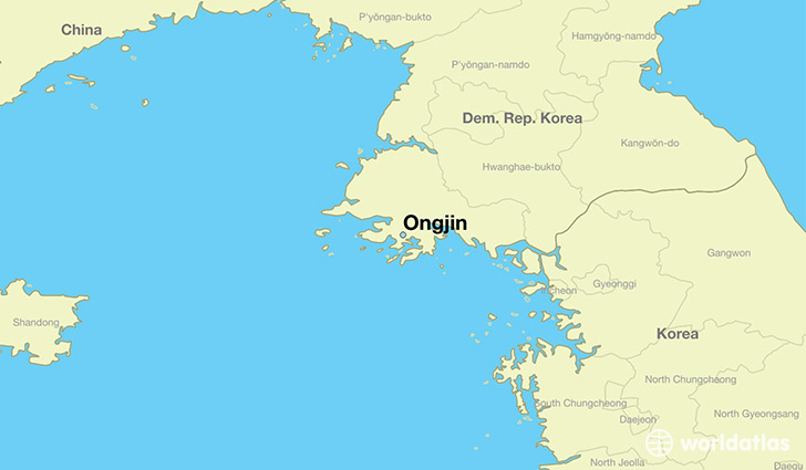 map showing the location of Ongjin