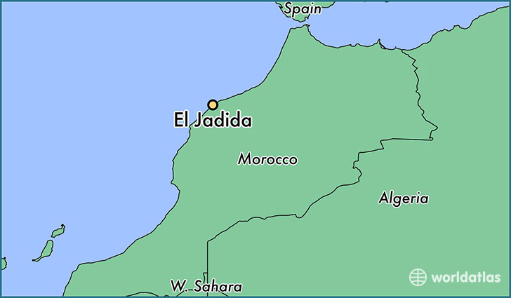 map showing the location of El Jadida