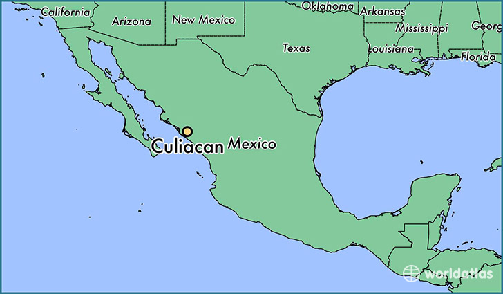 map showing the location of Culiacan