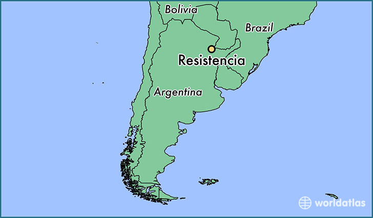 map showing the location of Resistencia