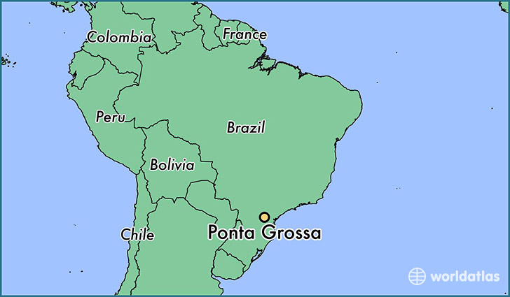 map showing the location of Ponta Grossa