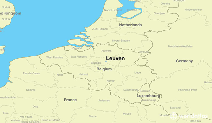 map showing the location of Leuven