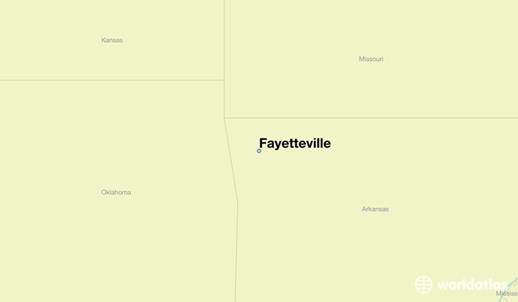 map showing the location of Fayetteville