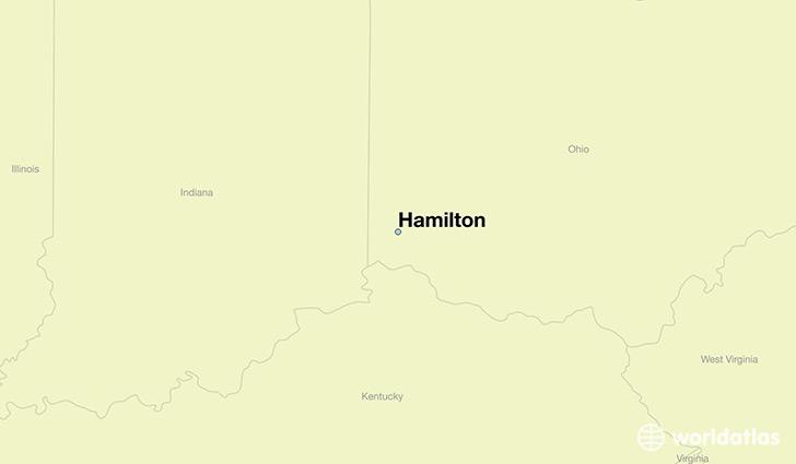 Where is Hamilton OH Hamilton Ohio Map WorldAtlascom
