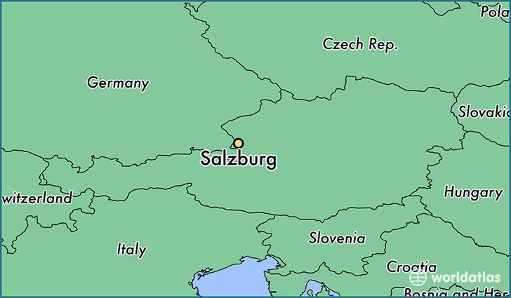 map showing the location of Salzburg