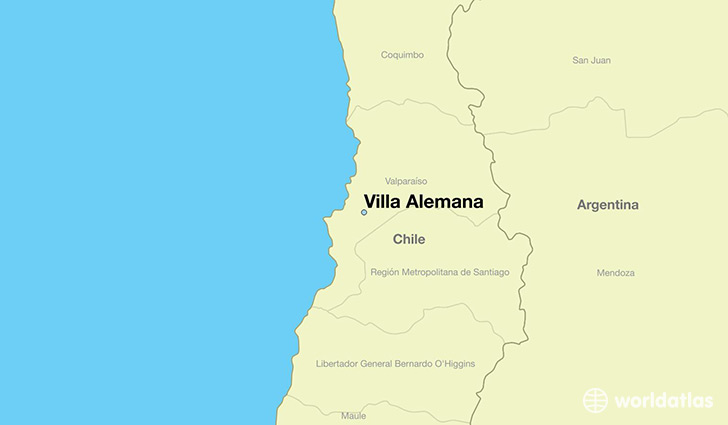 map showing the location of Villa Alemana