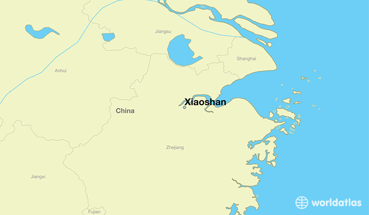 map showing the location of Xiaoshan
