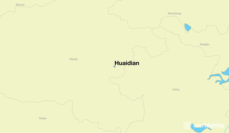 map showing the location of Huaidian