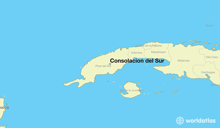 map showing the location of Consolacion del Sur
