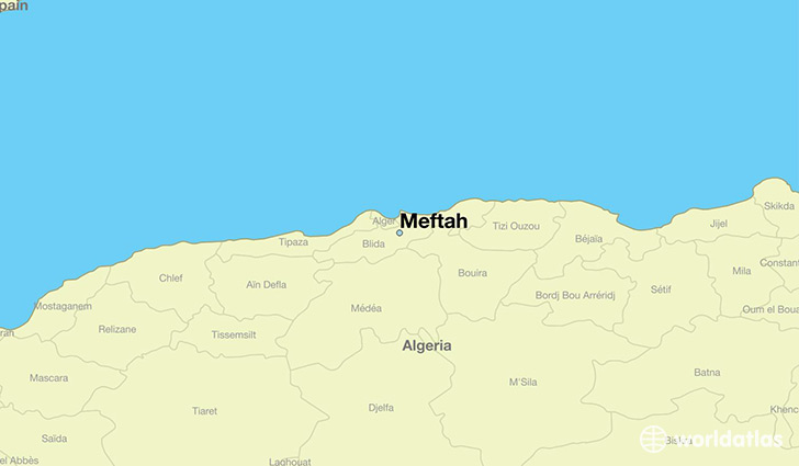 map showing the location of Meftah
