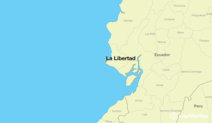 map showing the location of La Libertad