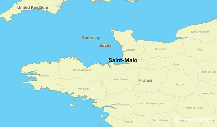 St Malo Map Where is Saint Malo, France? / Saint Malo, Brittany Map