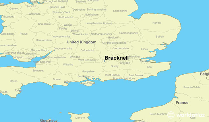 Where is Bracknell England Bracknell England Map WorldAtlascom