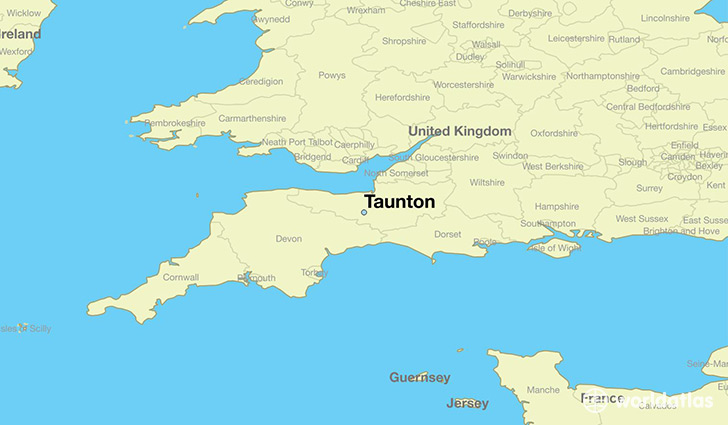 Where is Taunton England Taunton England Map WorldAtlascom