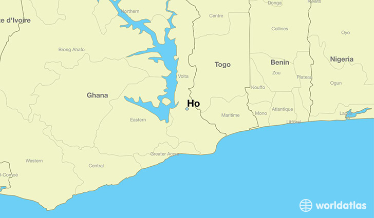 map showing the location of Ho