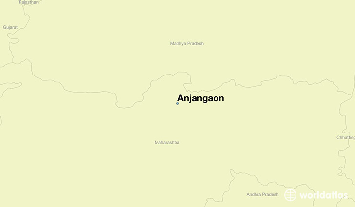 map showing the location of Anjangaon