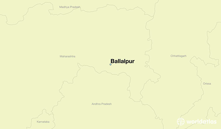 map showing the location of Ballalpur