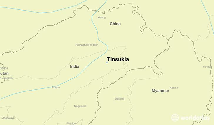 Where Is Tinsukia India Tinsukia Assam Map Worldatlas Com