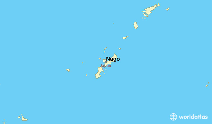 map showing the location of Nago
