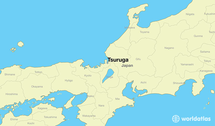 map showing the location of Tsuruga