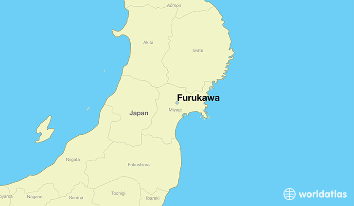 map showing the location of Furukawa