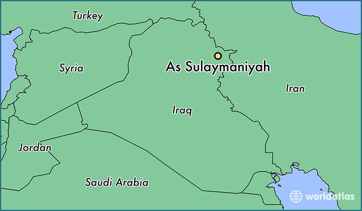 map showing the location of As Sulaymaniyah
