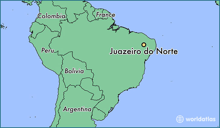 map showing the location of Juazeiro do Norte