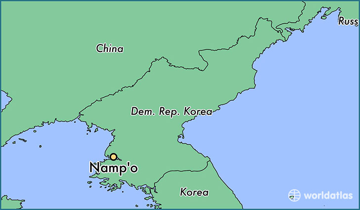 map showing the location of Namp'o