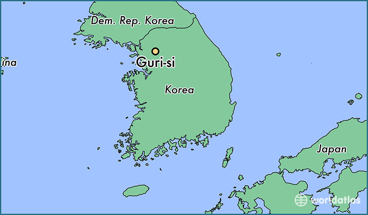 map showing the location of Guri-si
