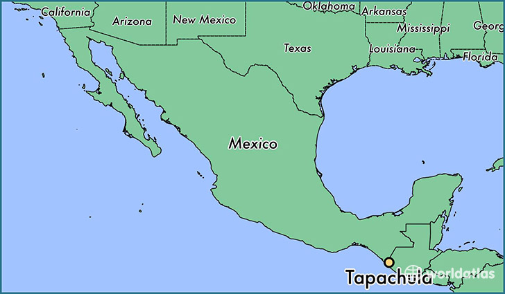 map showing the location of Tapachula