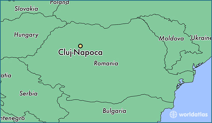 map showing the location of Cluj-Napoca