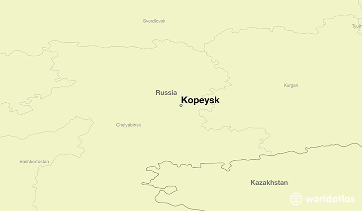 map showing the location of Kopeysk