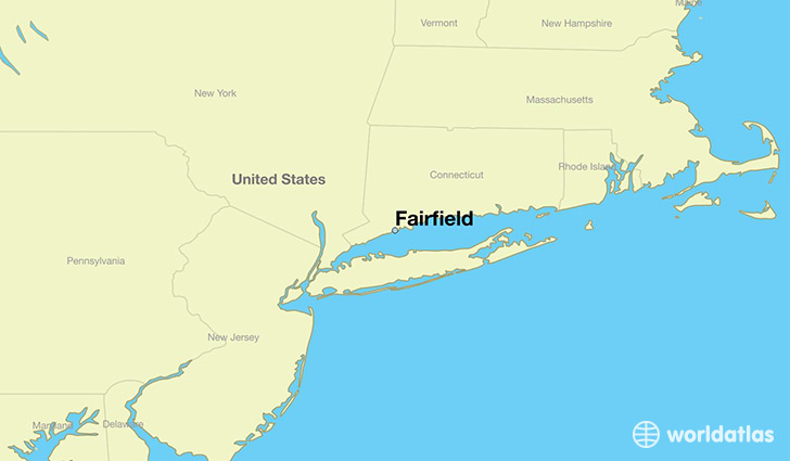 map showing the location of Fairfield