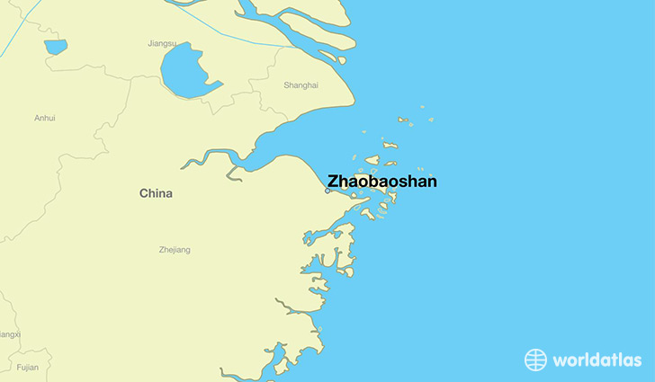 map showing the location of Zhaobaoshan