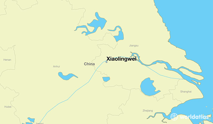 map showing the location of Xiaolingwei