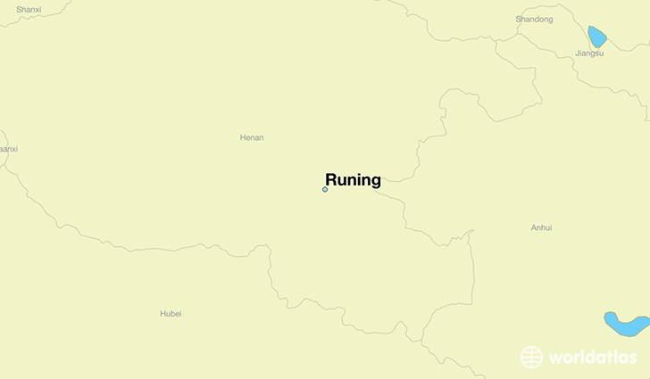 map showing the location of Runing