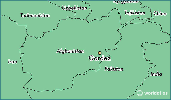 map showing the location of Gardez