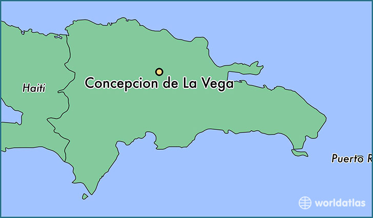 map showing the location of Concepcion de La Vega