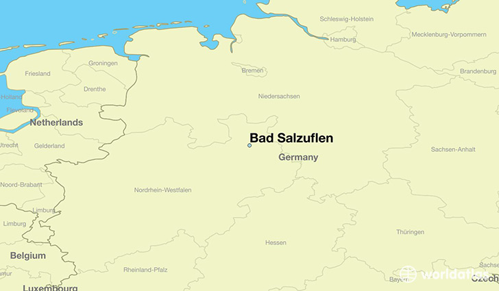 map showing the location of Bad Salzuflen
