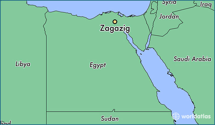 map showing the location of Zagazig