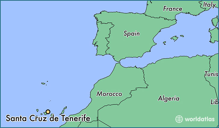 map showing the location of Santa Cruz de Tenerife