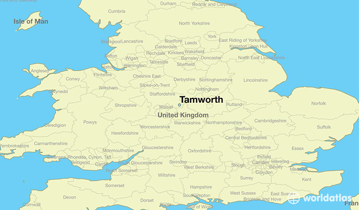 Where is Tamworth England Tamworth England Map WorldAtlascom
