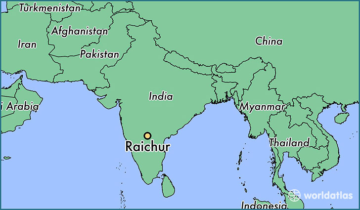 map showing the location of Raichur