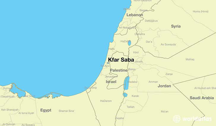 Where is Kfar Saba Israel Kfar Saba Central District Map