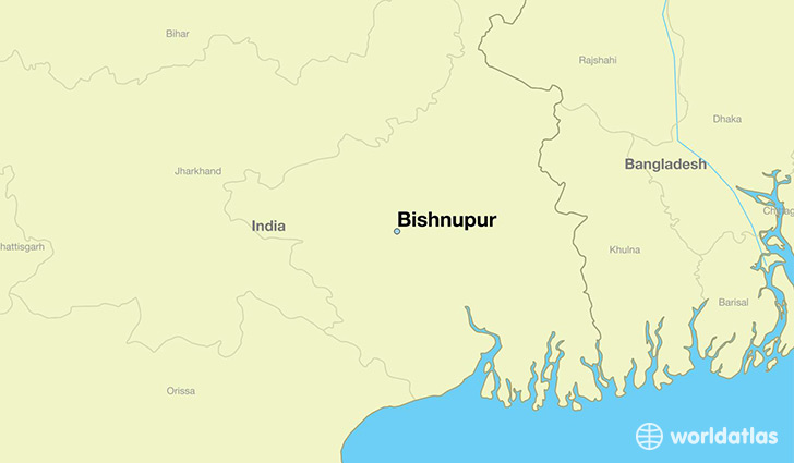 map showing the location of Bishnupur